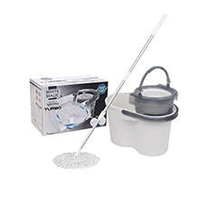 White Magic Turbo Spin Mop Hand Press