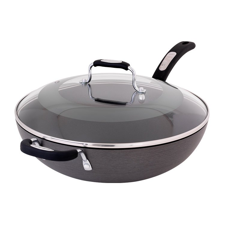 Tefal Hard Anodised Wok with Lid 32cm
