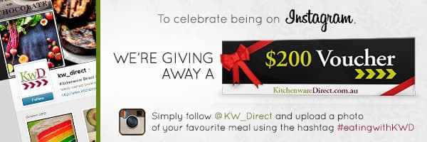 Celebrate with Kitchenware Direct being on Instagram