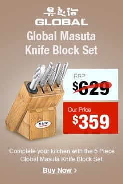 Global Masuta Knife 5pc Block Set