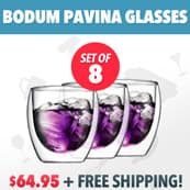 Bodum Pavina Glasses with Free Shipping!